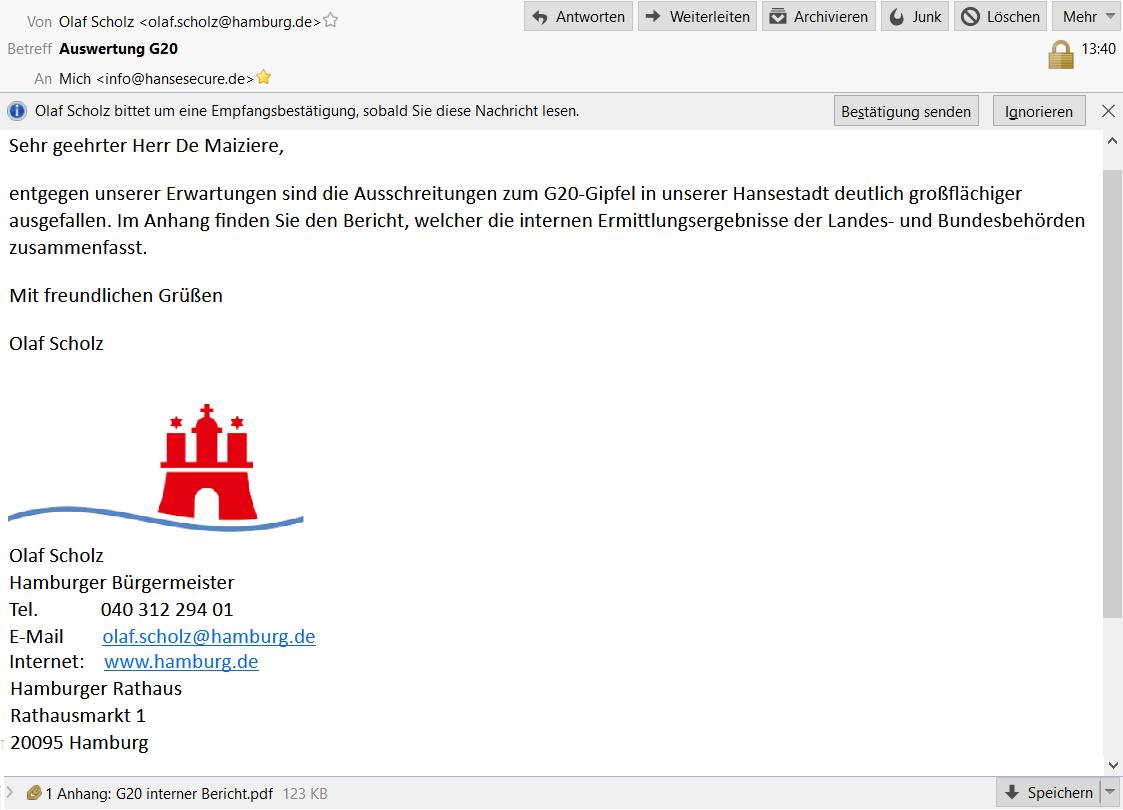 Phishing Mails Erkennen Hansesecure